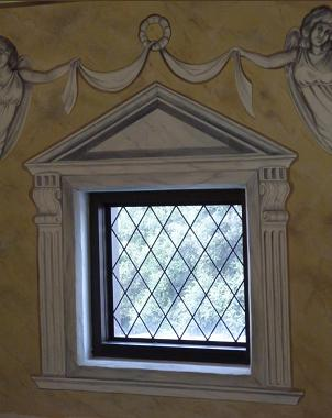 faux marble window frame